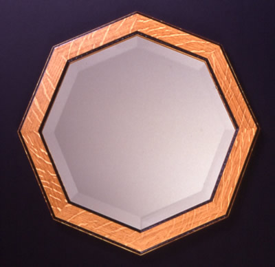 Chip Carved Octagonal Mirror