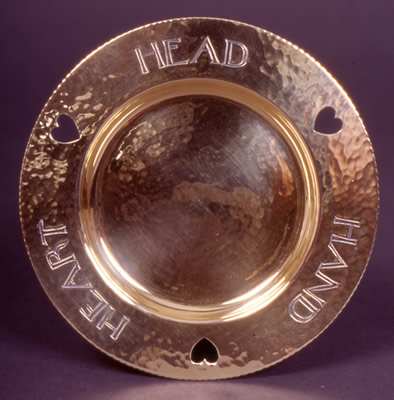 Head Hand Heart Motto Dish