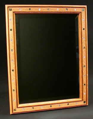 Inlaid Oak Mirror